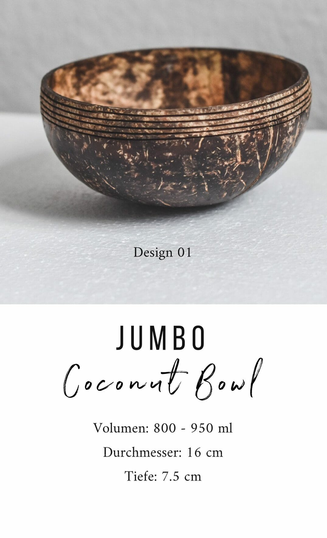 Jumbo Coconut Bowl Design 01